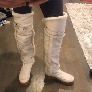 Rare iHunter shearling over knee boots sz9